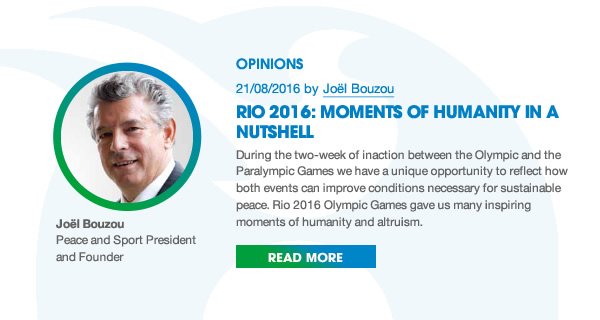 Peace and Sport Watch / Opinion by Joël Bouzou