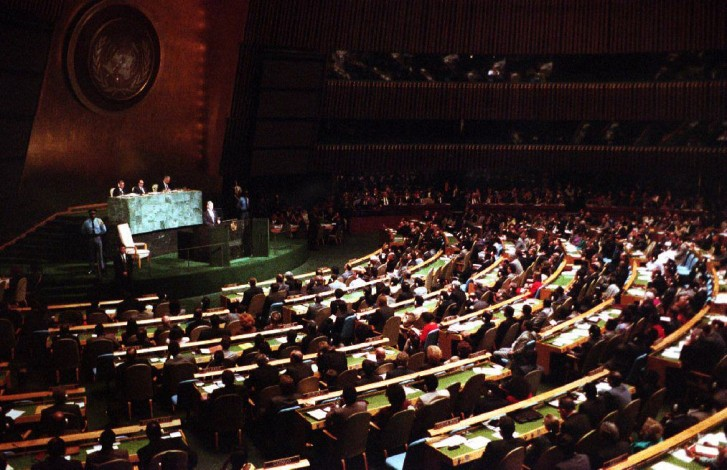 U.N. GENERAL ASSEMBLY OLYPMIC YEAR
