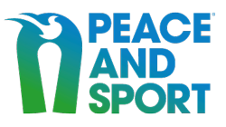 Peace and Sport Logo - dove at the top of an upside down u